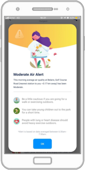 GET AIR QUALITY ALERTS