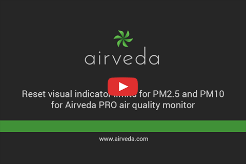 Tutorial - Changing visual indicator limits for Airveda PRO air quality monitor