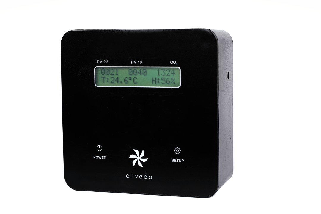 Airveda PM2510CTH br; PM2.5, PM10, CO2, Temp, Humidity Monitor