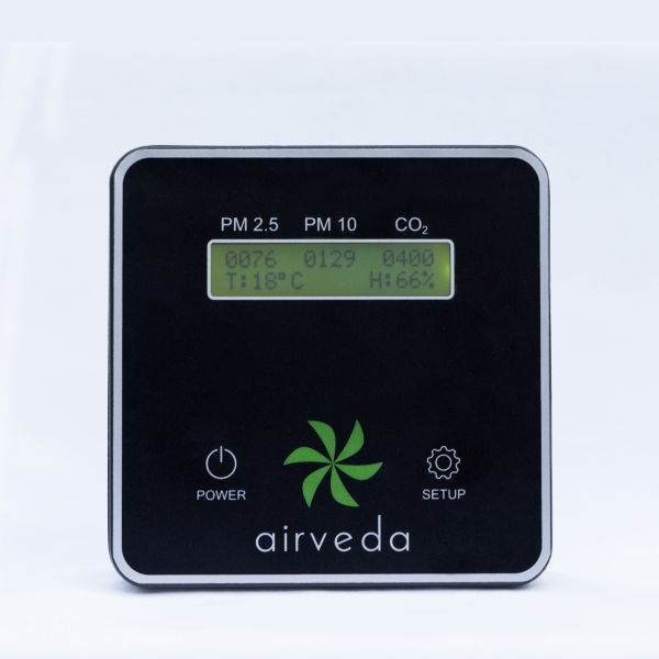 Airveda PM2.5, PM10, CO2, Temp, Humidity Air Quality Monitor