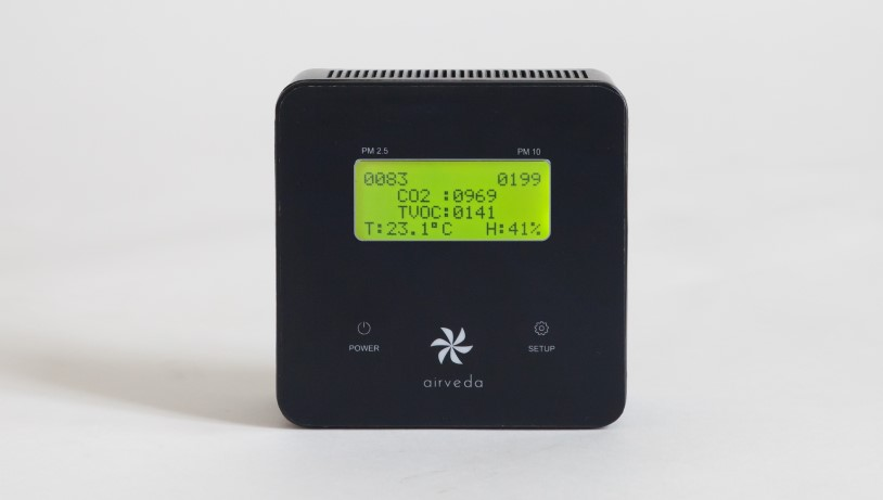 RESET & WELL certified Airveda PM2.5, CO2, TVOC, Temp, Humidity Monitor