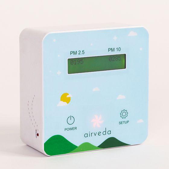 Airveda PM2510P br; PM2.5, PM10 White Monitor
